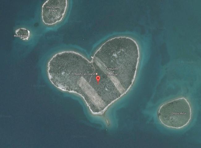 Szív alakú sziget Horvátország