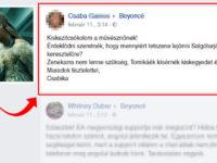 Beyoncé meghívás Facebook