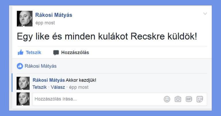 Szocialista mémek Facebook