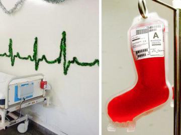 Karácsonyi kórházi dekorációk Facebook