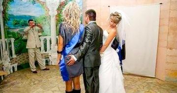 Furcsa esküvői fotók