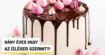 Sütemény-kvíz Facebook