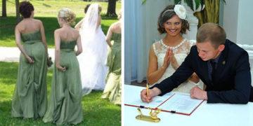 Kínos és vicces esküvői fotók