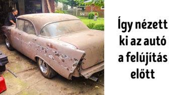 Nagyapjának felújított autó