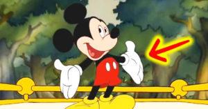 Fehér kesztyűk a Disney-karaktereken