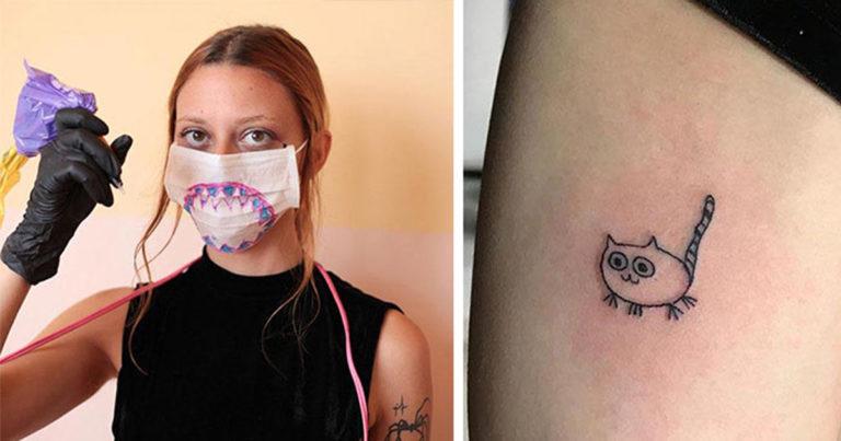 Brazil tetoválólány