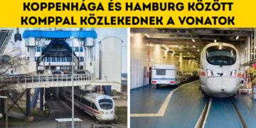 Komppal közlekedő vonat