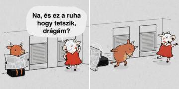 Humoros és szarkasztikus illusztrációk