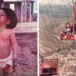Retro gyereknevelési fotók