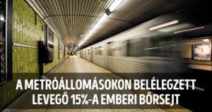 Metróállomások levegője