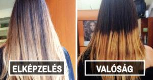 Női haj fail