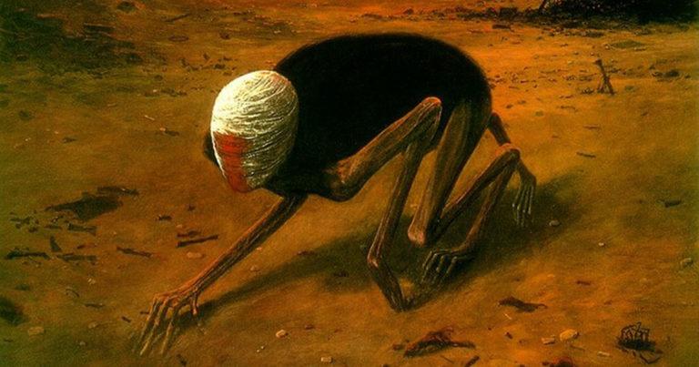 Szürrealista horror festmények