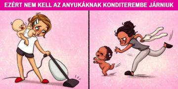 Valósághű illusztrációk anyukáknak