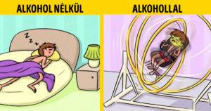 Alkohol hatása képregények