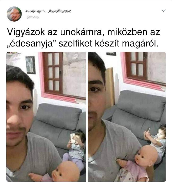 Edesanya Szelfizesei Kisbaba