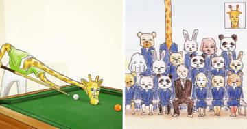 Zsiráf és a problémák illusztráció