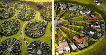 Körkörösen elrendezett dán kertváros
