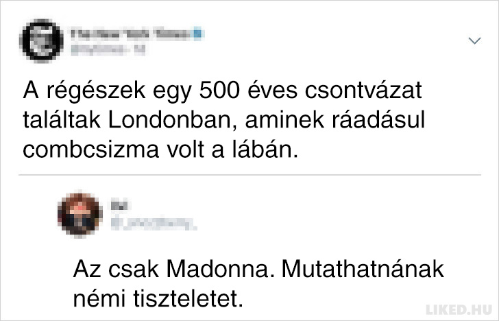 Madonna csontvaz