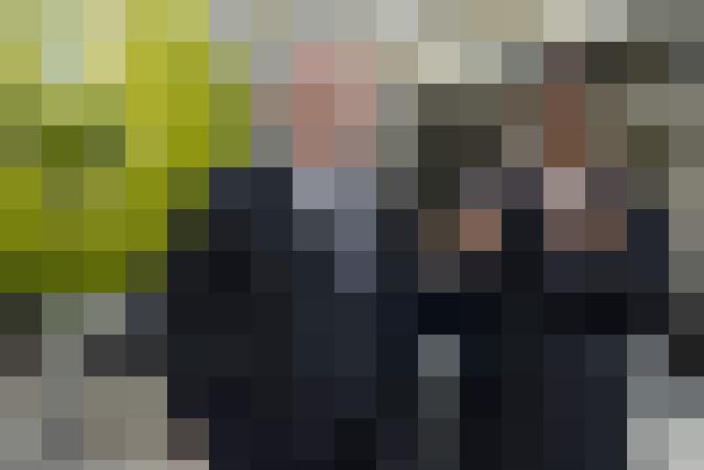 Man in black pixel