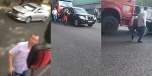 Teherautó sofőrbe belekötés