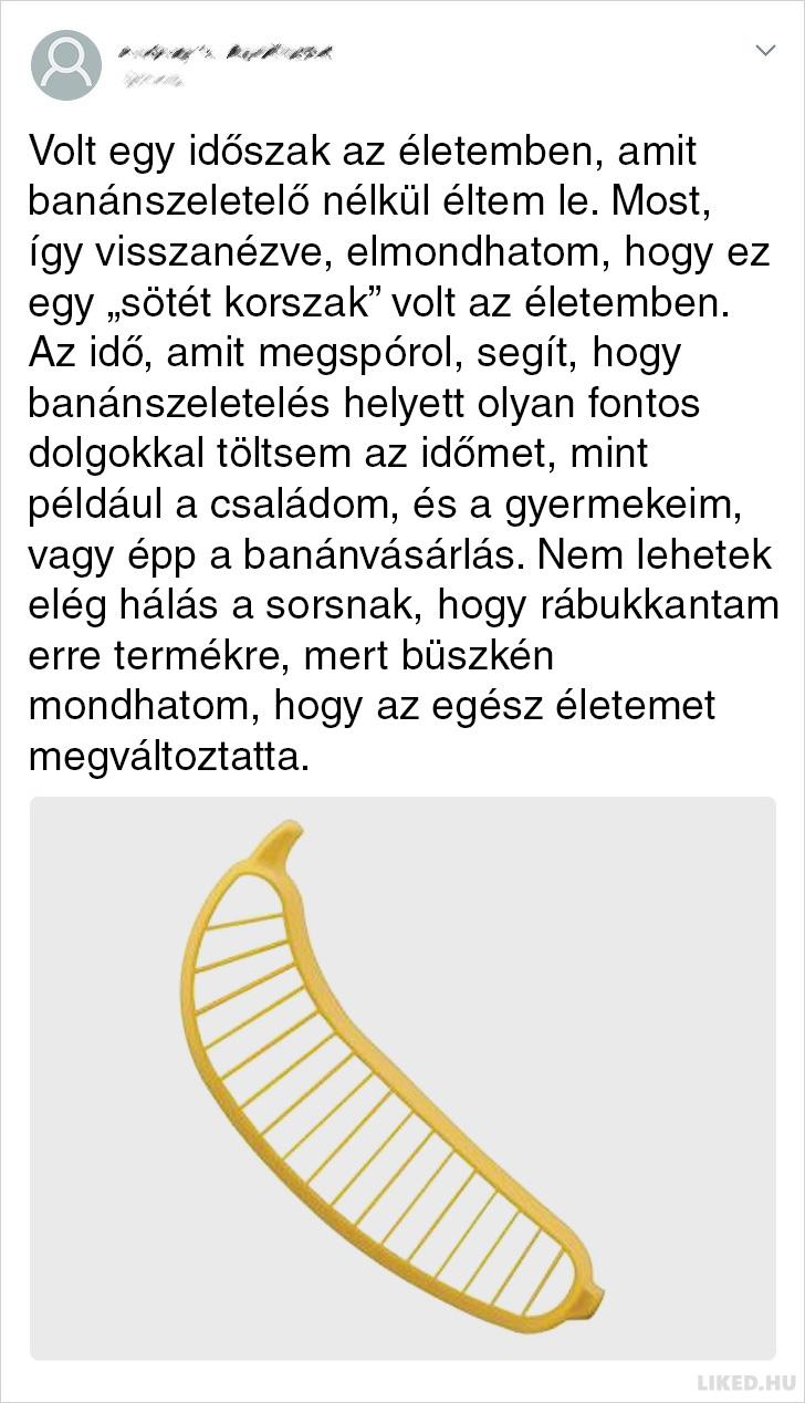 Bananszeletelo vevoi velemeny
