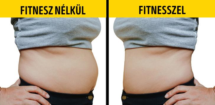 Fitnesz nelkul vs fitnesszel