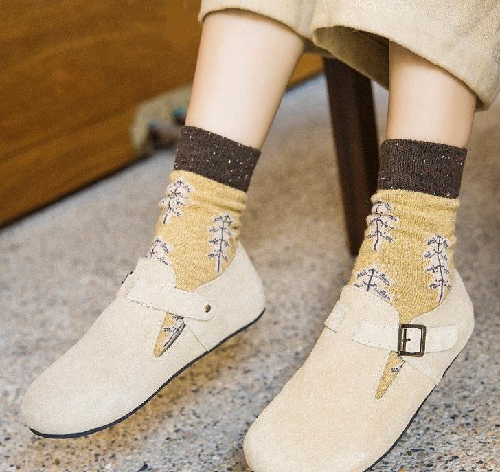 Gyapju retro zokni