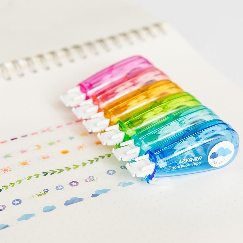Kawaii Weather Dot Iris Nebula Decorative Correction Tape Material Escolar Kids Student Stationery Gift School Office