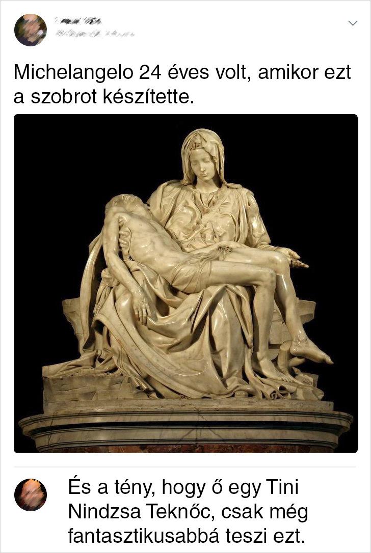 Michelangelo szobra