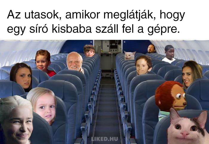 Siro kisgyerek a repulon
