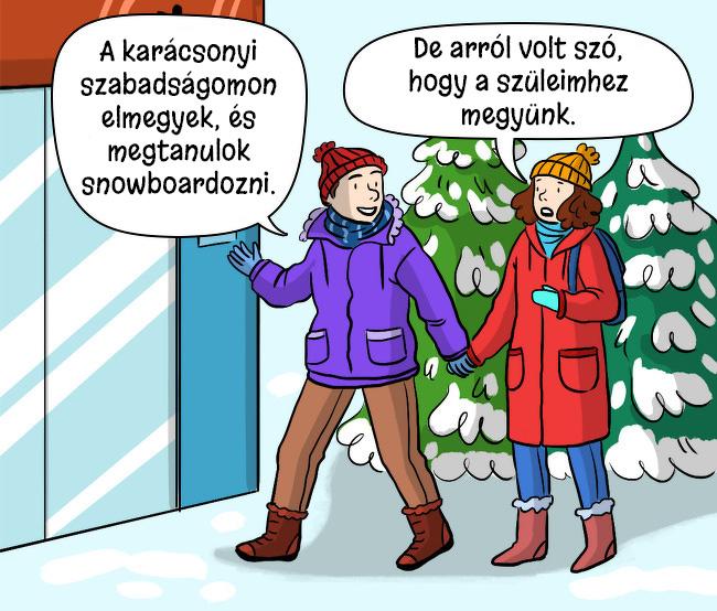 Karacsonyi snowboard