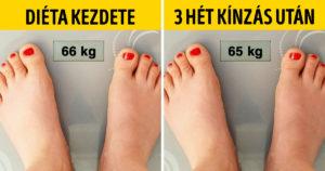 Diéta kezdete vs most