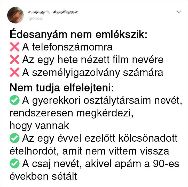 Edesanyak szelektiv emlekezese