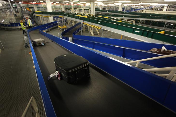 Poggyász reptér futószalag