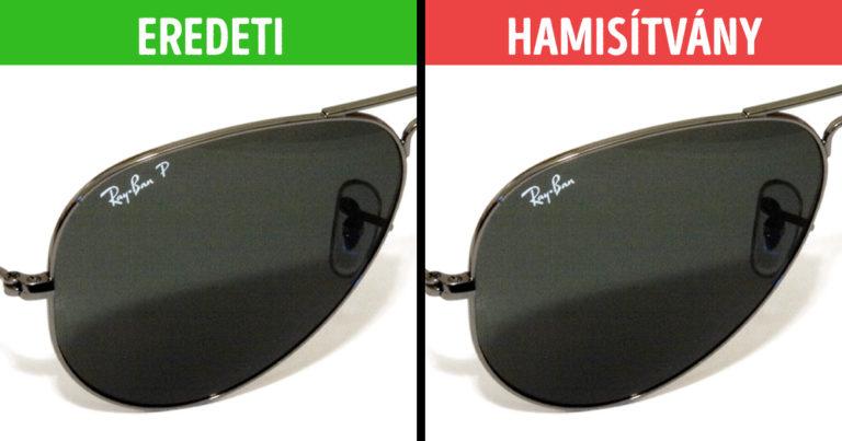 Ray Ban szemüveg felismerése