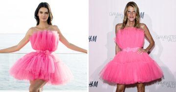 Ugyanazt a ruhát viselő hírességek
