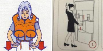 Vicces repülésbiztonsági képek