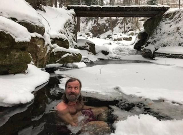 jégben fürdő
