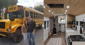Átalakított iskolabusz