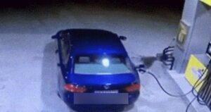 Benzinkút baleset