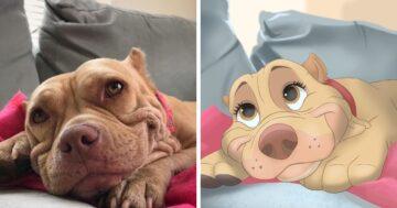 Disney jelenetekké változtatott állatos fotók