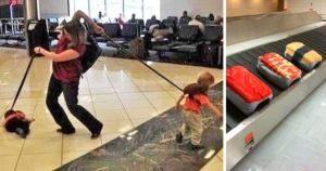 Vicces és szokatlan reptéri jelenetek