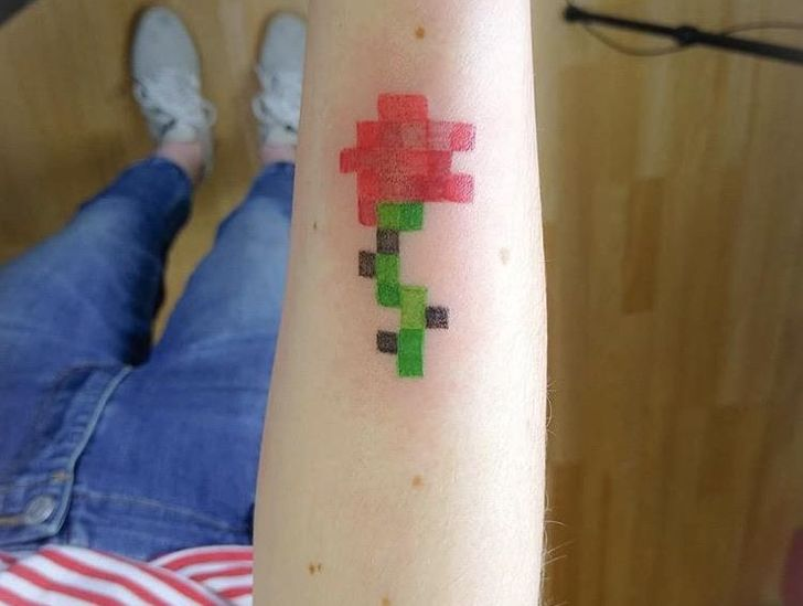 minecraft tetoválás