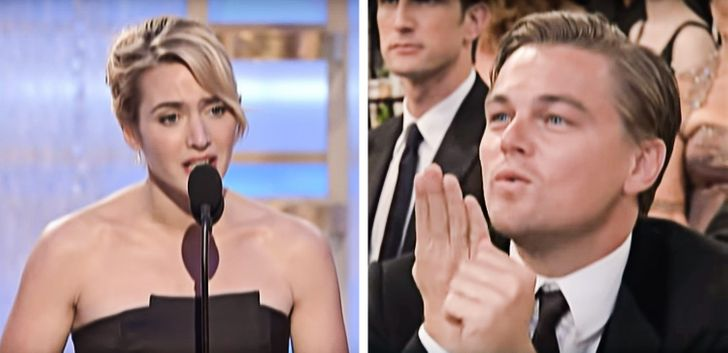 Leonardo DiCaprio és Kate Winslet Golden Globe