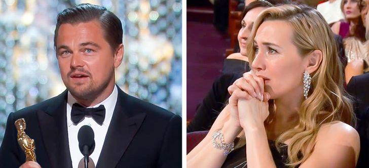 Leonardo DiCaprio és Kate Winslet Oscar