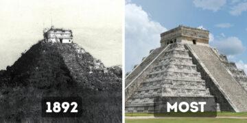 Történelmi építmények régen és most