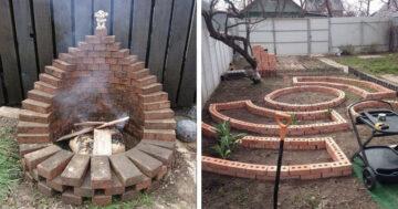 Bontott téglás ötletek a kertbe