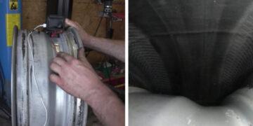 Gumiabroncs belseje video