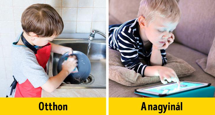 Gyerekek otthon vs nagyinal
