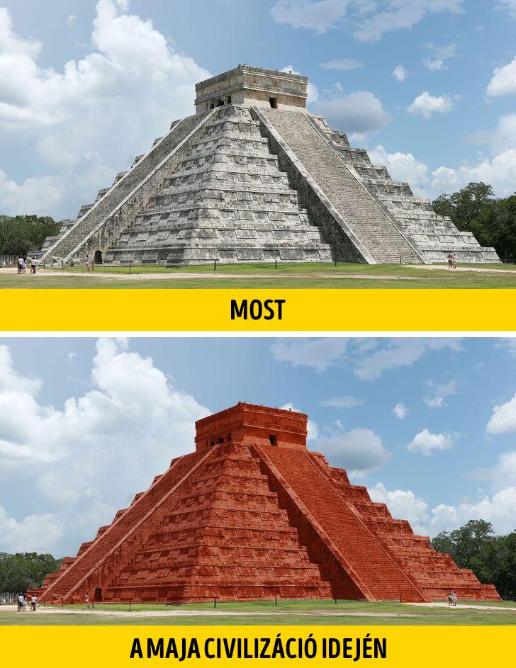 Maja piramis régen és most